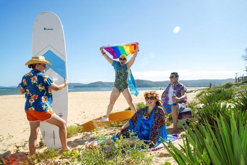 Coastal Twist Festival - Alicia, Alison, Sarah & Erin on the beach