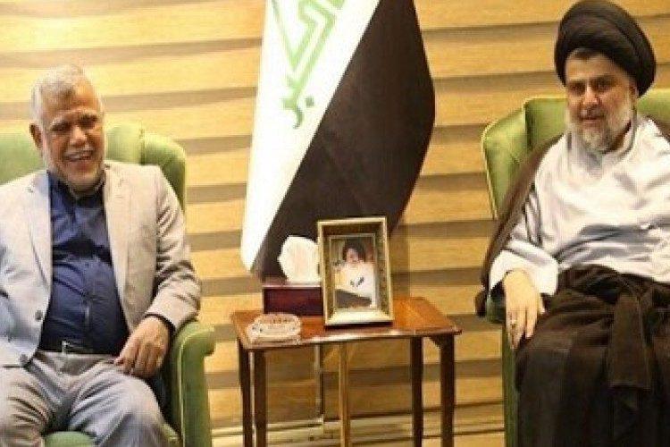 Mugtada al-Sadr and Hadi al-Amari