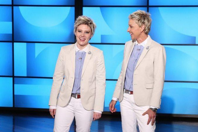Kate McKinnon does Ellenin front ofEllen