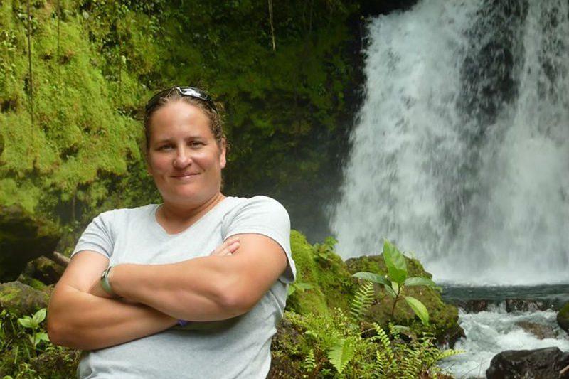 Laura at the Nauyaca Waterfalls