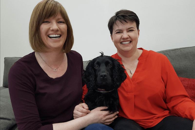Scottish Conservative leader Ruth Davidson and her partner Jen Wilson
