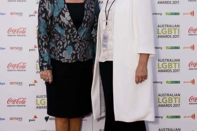 Clover Moore and Silke Bader at the inaugral Australian LGBTI Awards