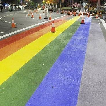 Clover Moore unveils rainbow crossings for Oxford Street