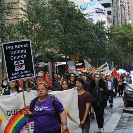 Protesters Rally At Australian Christian Lobby Conference