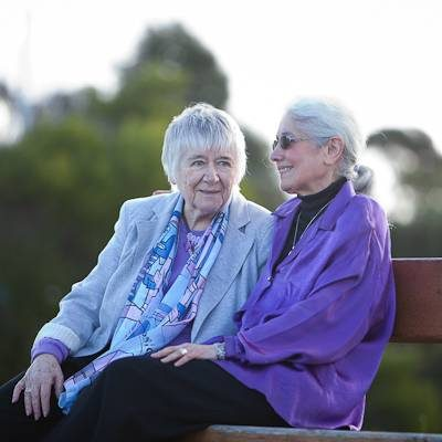 Phyllis Papps and Francesca Curtis