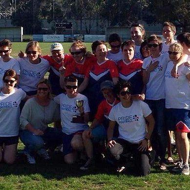 Team Shot of Pride Football Australia