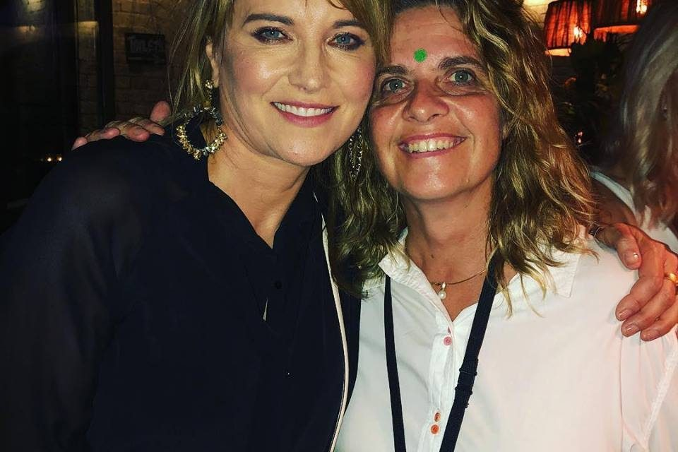 Silke Bader and Lucy Lawless