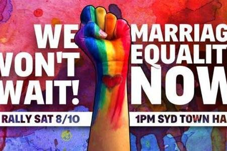 Sydney Marriage Equality Rally