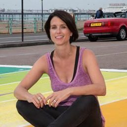 Heather Peace unveils Europe's first rainbow crossing